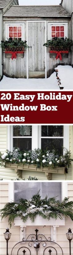 Holiday Window Boxes, Window Box Ideas, Window Box Inspiration, Holiday Window D… – The Best DIY Outdoor Christmas Decor Christmas Window Boxes, Winter Window Boxes, Christmas Gift Box, Xmas, Pine Cone Decorations, Outdoor Christmas Decorations, Diwali, Diy Weihnachten, Seasonal Decor