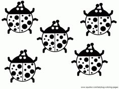 coloring page with ladybugs