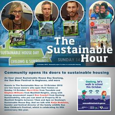 An hour about Sustainable House Day Geelong, the Sun Bear Festival in Anglesea, and more Guests in The Sustainable Hour on 10 October 2018 are two house owners who open their homes on Sunday 14 Oct… Walk To School, Open House, Sustainability, October, Community, Bear, Doors, Sun, Puertas