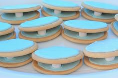 Clam shell biscuits at Under the Sea First Birthday Party by Love That Party. www.lovethatparty.com.au