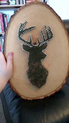 Deer nail and string art
