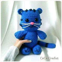 Crocheted Tiggie from Daniel Tiger's Neighborhood Amigurumi soft toy