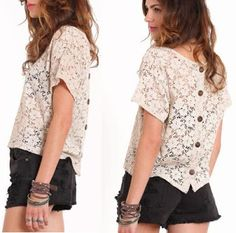 Feathers and Florals: #encaje # top #summer