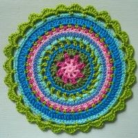 Crochet Mandala Wheel made by Mirjam, Netherlands, for yarndale.co.uk
