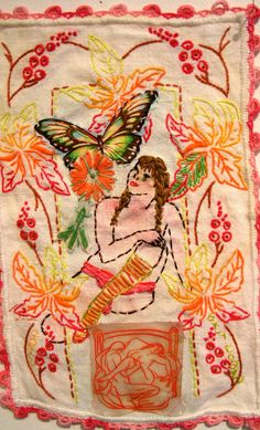 ♒ Enchanting Embroidery ♒ embroidered art - Orly Cogan - Picasso Dream