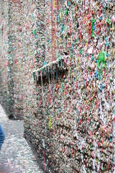 Gum Wall in Post Alley, Seattle WA- 6/13/2015