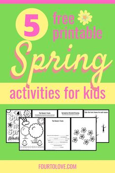 These free activity and coloring pages for spring will delight your kids or students! Receive a fill-in story, guided drawing, coloring sheets, and more. Creative Activities For Kids, Printable Activities For Kids, Outdoor Activities For Kids, Kids Learning Activities, Spring Activities, Free Activities, Teaching Kids, Free Printables, Drawing Activities