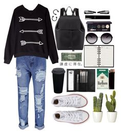 `Fade` by shining-light-1 on Polyvore featuring мода, Zoe Karssen, Boohoo, Converse, Mansur Gavriel, GlassesUSA, NLY Accessories, Sephora Collection, Laura Mercier and Chanel