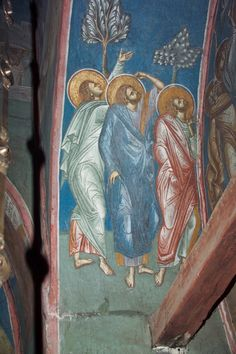 BLAGO | BLAGO : Decani : 27b Three Apostles, a detail of the Ascension of Christ