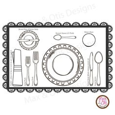 Printable Placemat / Place setting. Oh Ollie on etsy
