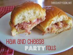 Ham and Cheese Party Rolls (the sauce is the boss!)