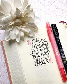 Today's verse for #mondaymorningswithmandy ❤️❤️❤️ today I am thankful that no matter how many times I may mess up, His love is never conditional ❤️❤️❤️ . •••• Every Monday morning I kick off the week with a bible verse for us to focus on that I post in my story. Then we letter it, write it out or use our Journaling Bible and post it here on IG with the hashtag #mondaymorningswithmandy  I would love for you to join in!! •••• . #aheartenedcalling #bibleverse #lamentations #interleavedbible