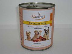 Aus der Kategorie Nassfutter  gibt es, zum Preis von EUR 2,20  Queeny Energie Mix ist eine sehr hochwertige Fleischvollnahrung  <br />aus für lebensmitteltauglich befundenen Fleisch-Rohstoffen für Hunde aller Rassen,  <br />die ausschließlich aus ausgesuchten Muskelfleischstücken und Innereien,  <br />ergänzt um kaltgepresstes Distelöl, frisch hergestellt wird.  <br />  <br />Energie Mix wird schonend zubereitet, so dass alle natürlichen Vitamine,  <br />Mineralstoffe und Spurenelemente…