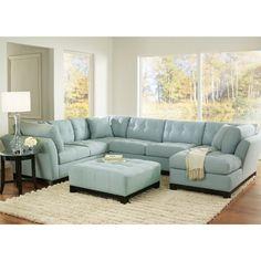 Unique Blue Sectional Sofa #4 Light Blue Suede Sectional Sofa