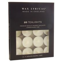 Pack of 20 White Unscented Tealights
