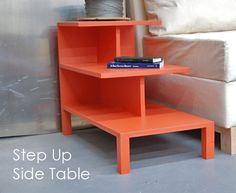 Diy step up side table