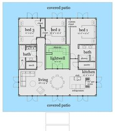Center courtyard house plans with 2831 square feet this for Castle house plans with courtyard