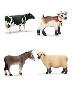 Another great find on #zulily! Farm Animal Figurine Set #zulilyfinds