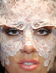 Channel Lady Gaga's lace face with the Maison Close Le Sublime Lace Eyemask