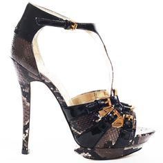 Brooke Sandal - Black by Bebe Shoes Frauen In High Heels, Sexy High Heels, Womens High Heels, White Heels, Black Pumps, Black Sandals, Stilettos, Stiletto Heels, T Strap Sandals
