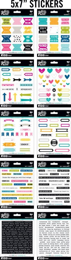 journaling bible stickers #illustratedfaith #journalingbible @bellablvd