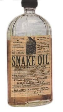 "The rip off of the century! Snake Oil ""cures all"" and can do anything!"