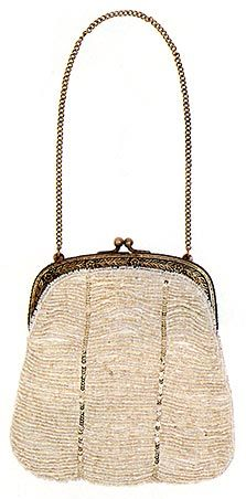 Moyna. Beaded Bridal Bag.