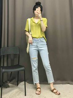 The color is gorgeous Korean Fashion Trends, Korean Street Fashion, Korea Fashion, Asian Fashion, Girl Fashion, Chic Outfits, Trendy Outfits, Fashion Outfits, Ulzzang Fashion