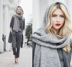 Ebba Zingmark - S.Oliver Premium Top, S.Oliver Premium Vest, S.Oliver Premium Pants, Adidas Stan Smith Sneakers, & Other Stories Scarf - WARWICK SQUARE | LOOKBOOK