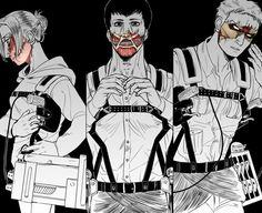 Shingeki no Kyojin Armin, Levi X Eren, Tokyo Ghoul, Reiner And Bertholdt, Titan Shifter, Kamigami No Asobi, Humanoid Creatures, Attack On Titan Art, Eruri