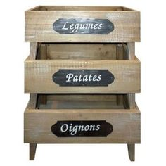 Rustic Vegetable produce rack - Potatoes , onions , Fruit - French Wooden Stand - Ideal for vegetable home Grown , Storage for allotment