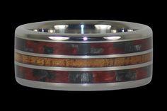 Red Carbon Fiber and Koa Hawaii Titanium Ring®
