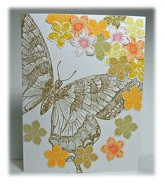 Butterfly with Scattered Petals by AnniePanda - Cards and Paper Crafts at Splitcoaststampers