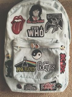 #backpack#acdc#pinkfloyd#denim#style#awesome