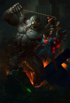 The Trinity vs Doomsday by Francisco Méndez