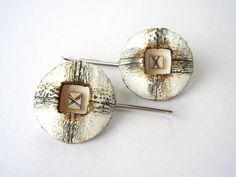 """Fata Morgana"" - 3cm diameter polymer clay earrings by Sonya Girodon."