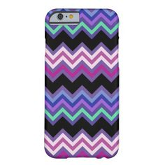 Purple Zigzag Pattern iPhone 6 Case