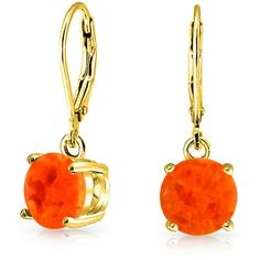 Bling Jewelry Racy Opal Earrings ($21) ❤ liked on Polyvore featuring jewelry, earrings, dangle-earrings, orange, imitation jewellery, long earrings, orange earrings, opal jewellery and fake jewelry
