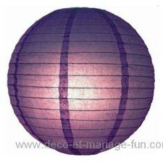 Lampion papier violet 30 cm