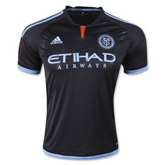 14-15 New York City Away Black Soccer Jersey Shirt | New York City Jersey Shirt sale | Gogoalshop