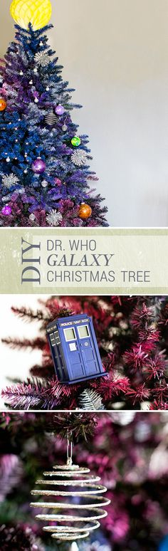 Embrace your nerdiness for the holidays this year with this nerdy but elegant Dr. Who Galaxy Christmas Tree.