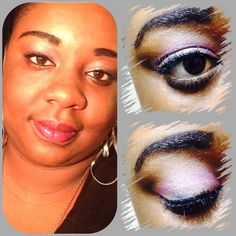 Sheer pink using Maybelline's Color Tattoo and Coastal Scents Ultrashimmer Eyepalette