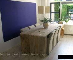 Steigerhouten tafel 'Berlijn'