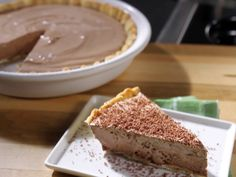 Bobby's Lighter Frozen Chocolate Mousse Pie from FoodNetwork.com