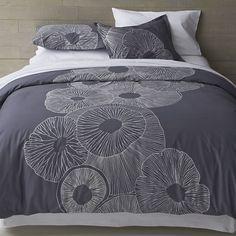 Marimekko Valmuska Slate Bed Linens