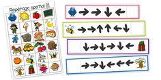 Repérage spatial - Ma Classe à Moâ Montessori Materials, Montessori Activities, Preschool Math, Activities For Kids, Kindergarten, Act Math, Clever Kids, Jobs For Teachers, Number Games