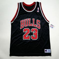 b587ddbe Michael Jordan Champion #Chicago Bulls Black #NBA Jersey Size 48 Nwt from  $165.0