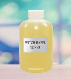 Witch Hazel and apple cider vinegar toner. Mix 3 parts of water with 2 parts of witch hazel and one part of apple cider vinegar. Mix it well and then store it in a spray bottle.
