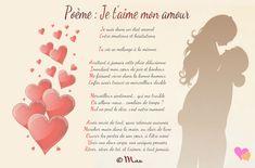 Poèmes d'amour en images | Poésie d'amour French Love Poems, Love Heart Gif, Love Words, Poetry, Romance, Positivity, Messages, Quotes, Beau Message