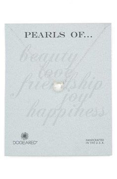 Dogeared Freshwater Pearl Pendant Necklace